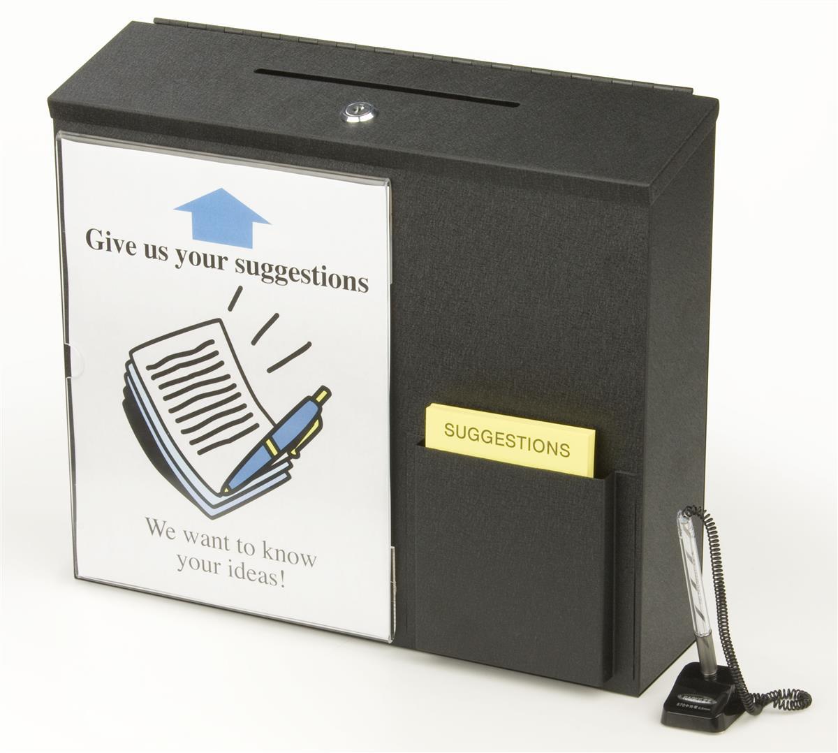 Comment Box Metal Wall Mount Amp Locking Display Box