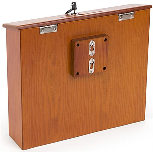 Wall Mounted Suggestion Box with Locking Top
