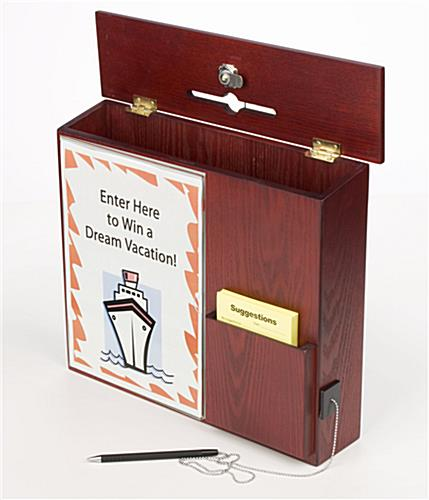 Mahogany Comment Box Wall Mounting Amp Front Pocket Sign