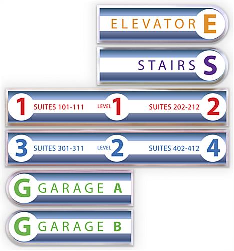 Modular wayfinding wall signage with easy mounting