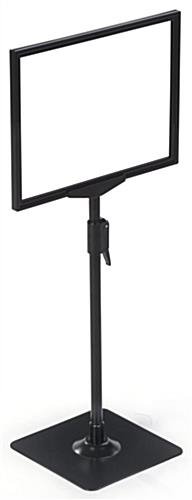 "8.5"" x 11"" Steel Graphic Stand at Lowest Setting"