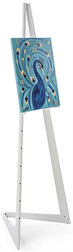 White Wooden Easel for Art Galleries