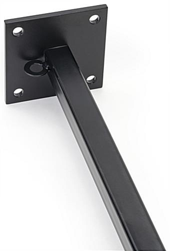 Black finial pole banner hardware mounts come in a set of two