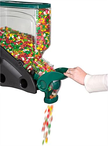 3-Gallon Gravity Candy Dispenser With Green Accents