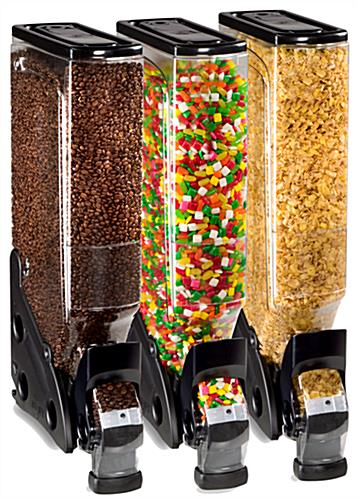 Clear Bulk Food Dispenser Black Accented 5 Gallon Container