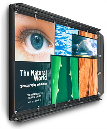 4' x 7' Black Banner Stretching Frame with Snapping Edges