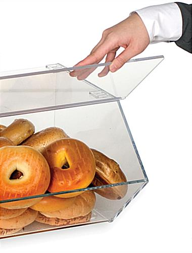 Bagel Bin With Connectors For Stacking Capability