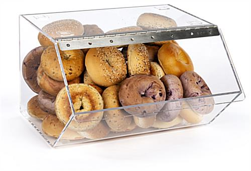 Bagel Bins with Stacking Capability to Conserve Counter Space