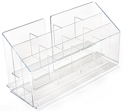 Multi-Slot Acrylic Pamphlet Dispenser