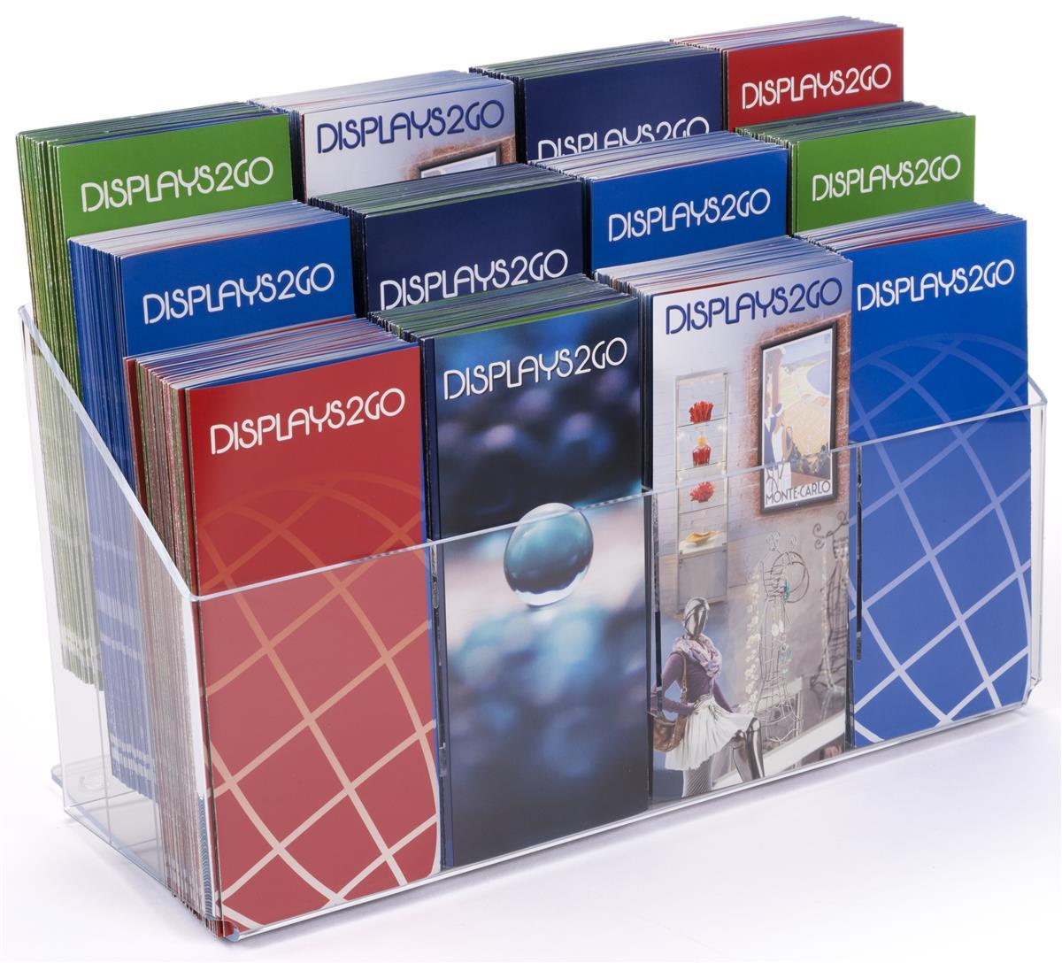 acrylic pamphlet dispenser clear 12pocket leaflet holder