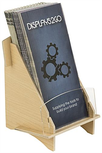 Natural Knock Down Wood Brochure Holder