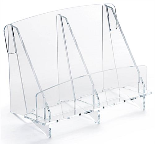 Clear Acrylic Double Brochure Holder