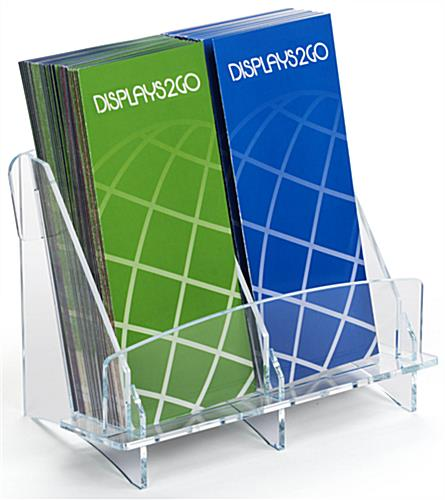 Side by Side Pocket Double Brochure Holder