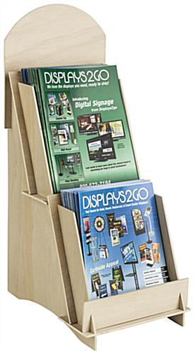 Unfinished Wood Magazine Display Ships Flat