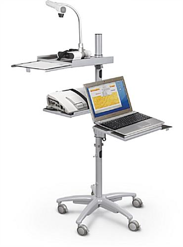 Height Adjustable Workstation With Star Base Height Adjustable Workstation  With Camera Shelf ...