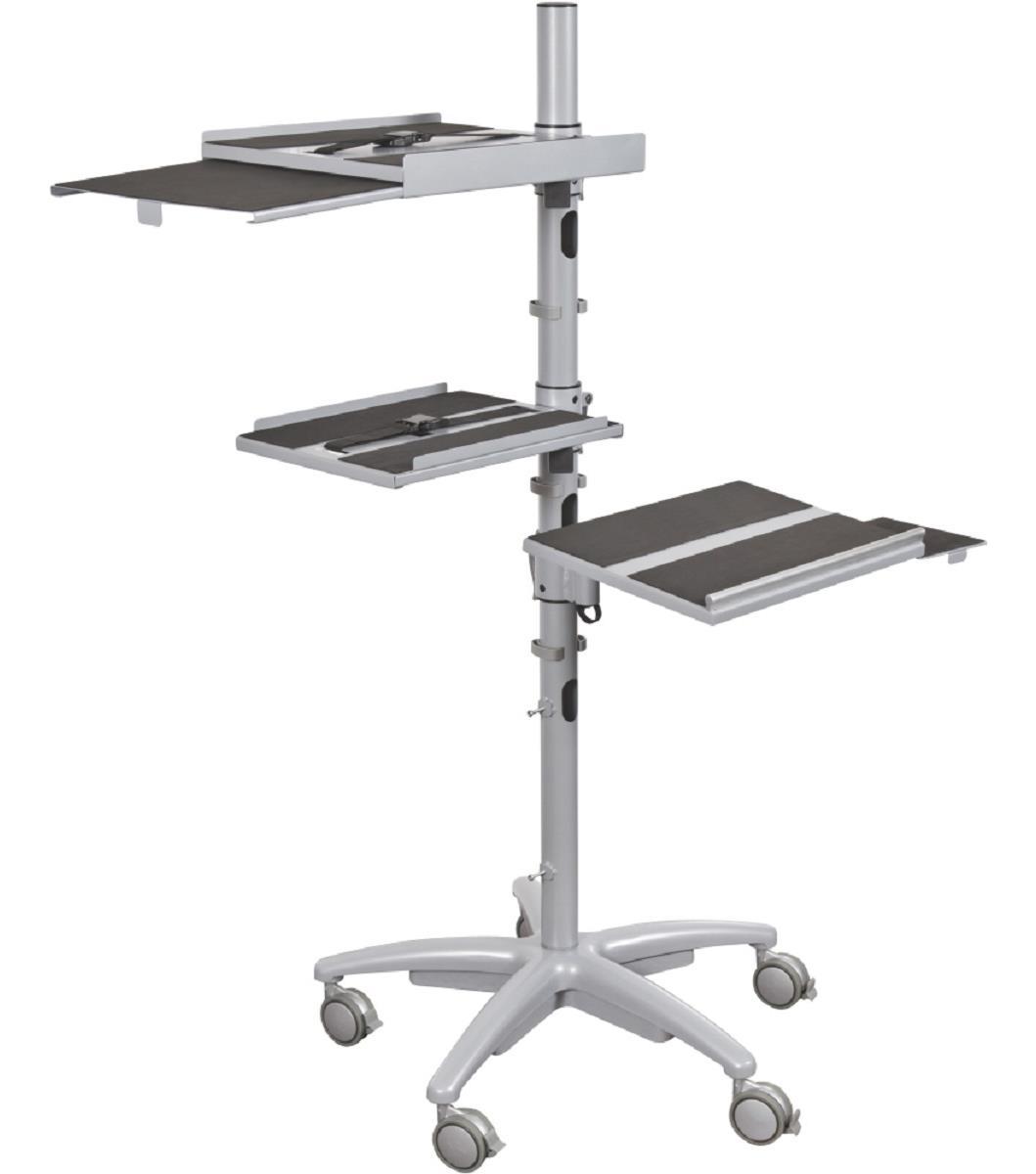 Height Adjustable Mobile Workstation Projector Shelf