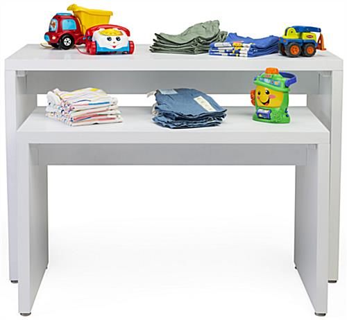 Modern Nesting Retail Display Console Set