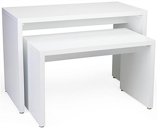 White Nesting Retail Display Console Set