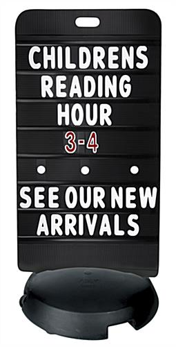24 x 47 Black Sidewalk Sign Board with Letter Set