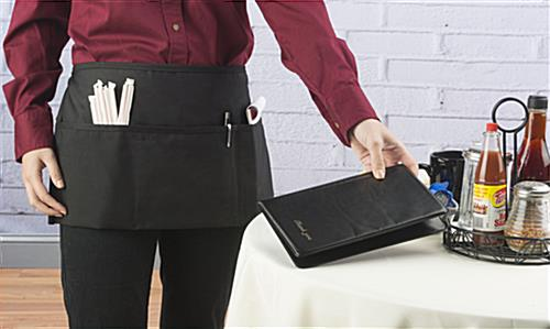 Black Waist Apron with Pockets