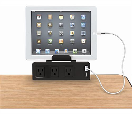 Tablet Holder with Charging Hub for a Variety of Smart Devices
