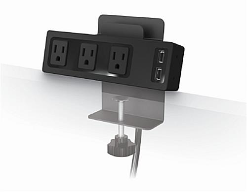 Tablet Holder with Charging Hub with USB and AC Outlets