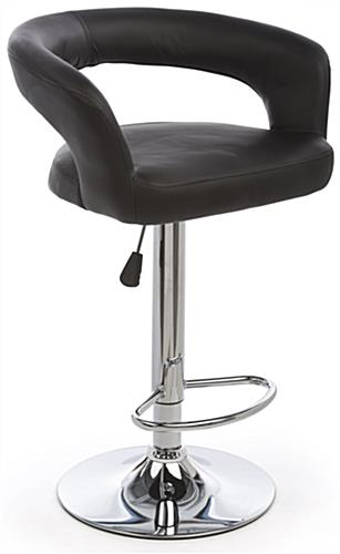 Pneumatic Bar Stool is Height Adjustable