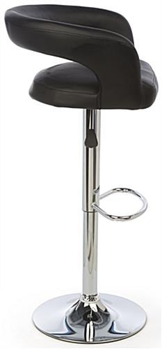 Pneumatic Bar Stool with Back Rest