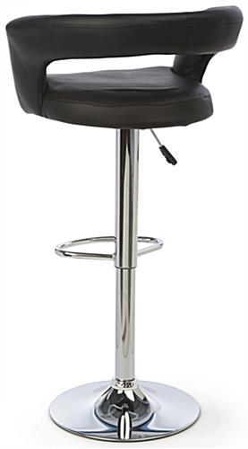Pneumatic Bar Stool with Open Back