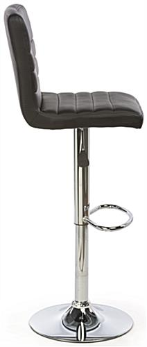 Black Leather Bar Stool with Modern Construction