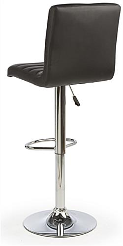 Black Leather Bar Stool with Foot Rest