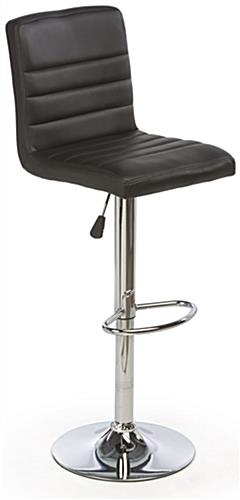 Black Leather Bar Stool for Trade Show Comfort
