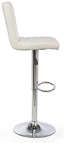 Adjustable Height Bar Stool with Modern Profile