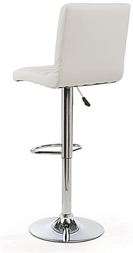 Adjustable Height Bar Stool Provides Back Support