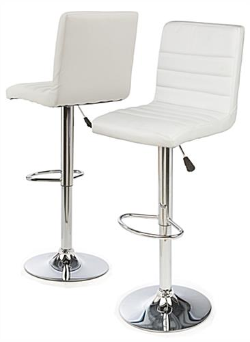 Adjustable Height Bar Stool with Foot Rest