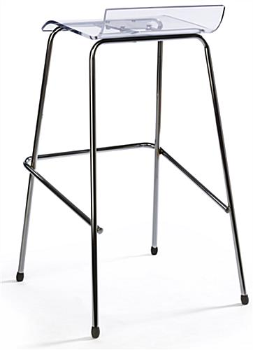 Chrome Bar Stool with See-Through Seat