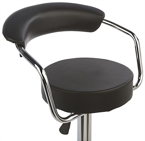 Bar Stool with Gas Lift with Back Support for Comfort
