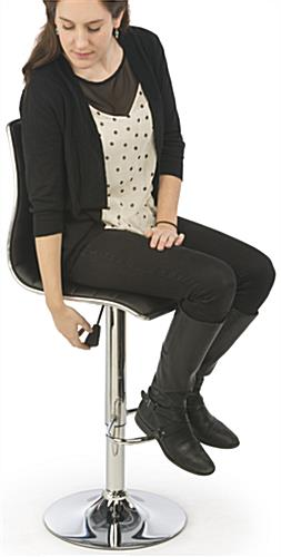 Adjustable Height Bar Chair with Foot Rest