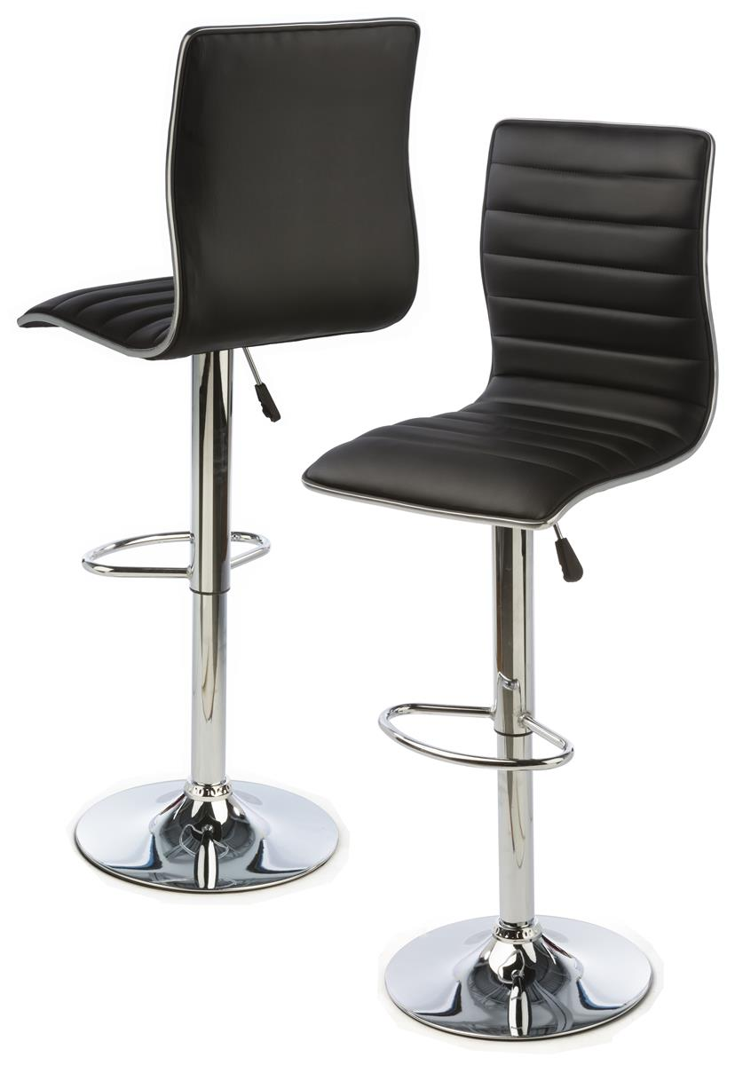 Adjustable Height Bar Chair Ergonomic Leatherette