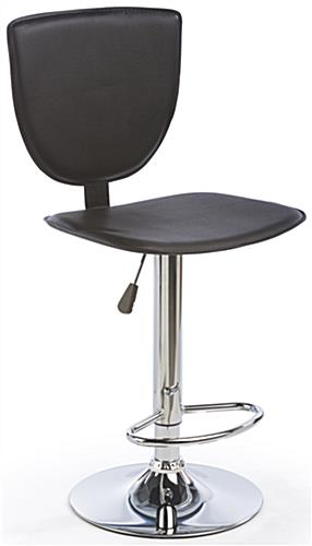 High Back Bar Stool Slim Profile Seat W 360 176 Rotation