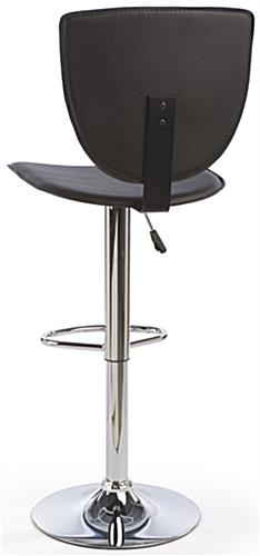 High Back Bar Stool, Steel Base