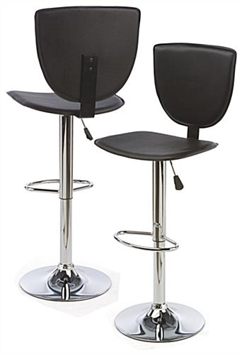 High Back Bar Stool, Rotating