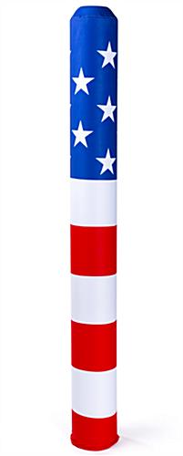 removable american flag decorative bollard sleeve