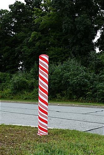 indoor/outdoor candy cane bollard cover