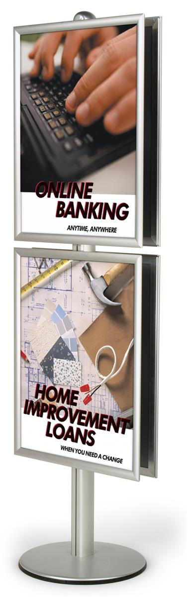 Displays2go 22 x 28 Poster Stand, Snap Open, 2-Sided, 6 F...
