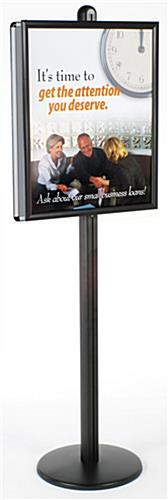 "Poster Frame Stand Features (2) 22"" x 28"" Snap Frames"