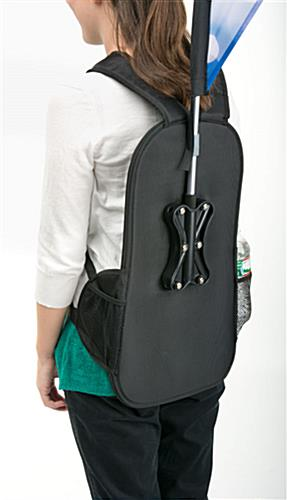 Double-Sided Teardrop Backpack Flags with Zippered Pockets