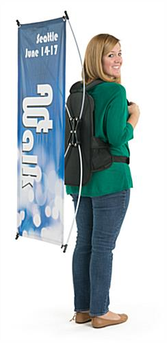 Backpack Banners for Portable Advertising Available with Custom Graphics