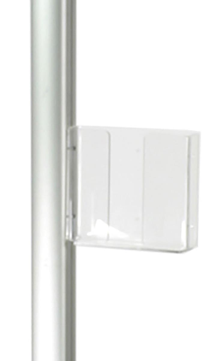 Acrylic Pocket 8 5 X 11 Magazine Holder For Display Pole