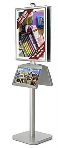 poster literature stand